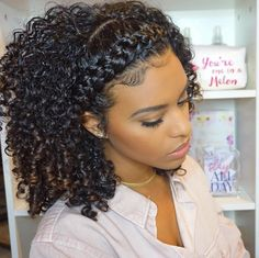 "13.7k Likes, 95 Comments - ChellisCurls | Curly Styles (@chelliscurls) on Instagram: ""Added a crown braid to my wash and go Where would you rock this style? . . . #chelliscurls…"""