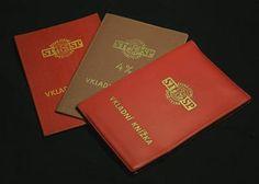 Vkladní knížky Retro 2, Czech Republic, Childhood Memories, Stationery, Nostalgia, Stationery Shop, Paper Mill, Office Supplies