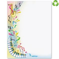 Music and Fun Border Papers – Prescholl Ideas Borders For Paper, Borders And Frames, Music Border, Diy And Crafts, Paper Crafts, Music Drawings, Page Borders, Music Paper, Music Backgrounds