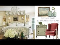 Cottage Core Bedroom Design Plans - YouTube Homemaking, Cottage, How To Plan, Interior Design, Bedroom, Core, Furniture, Youtube, Decorations