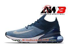 new concept b0421 6e068 Chaussures Officiel basket Pas Cher Pour Homme Nike Air Max 270 Flyknit  Bleu Noir AO1023-