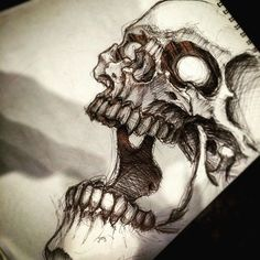 Cause nothing else is coming to mind. #Skull #Sketch #tattoo #bostontattoo www.empiretattooinc.com