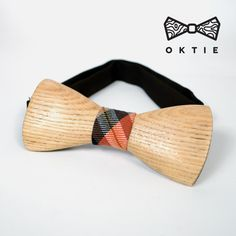 Houten Bow TieBrown houten strikje handgemaakte door OKTIEofficial