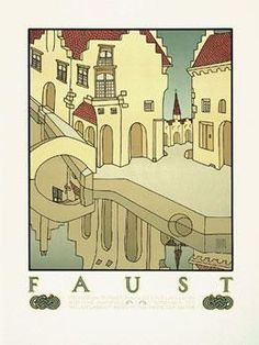 Faust Movie Poster by David Lance Goines