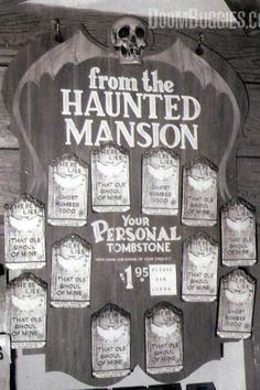 Tombstone Souvenirs from The Haunted Mansion, Disneyland. These were also available at Disneyworld.