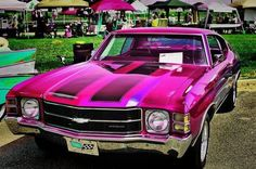 71 chevelle  #BecauseSS candy pink. old school car
