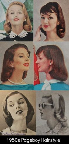 Retro Hairstyles pageboy hairstyles for medium length hair - 1950s Hairstyles For Long Hair, Bandana Hairstyles, Retro Hairstyles, Hairstyles With Bangs, Braided Hairstyles, Wedding Hairstyles, Drawing Hairstyles, Beach Hairstyles, Simple Hairstyles