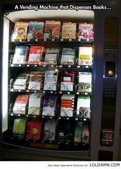 Book Vending Machine In Airport.