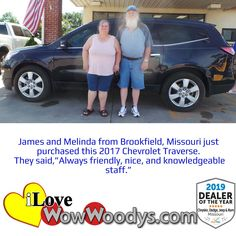 Pure excitement from these two, congratulations on your Chevrolet Traverse! 🎉 #wow #wowwoodys #woodysautomotive #cars #trucks #suvs #carsforsale #trucksforsale #suvsforsale #kansascity #chillicothe #customerreviews #customertestimonials #wowcarbuying #carshopping #happycustomers #2017chevrolettraverse #2017chevrolet #chevrolettraverse #chevrolet #traverse