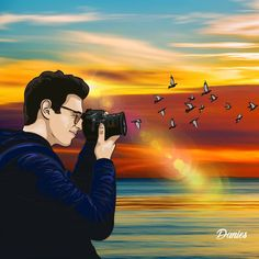 """""""Every sunset is an opportunity to reset"""" -Richie Norton 🌅🐦📷 #graphics #adobe #look #my #illustration #amazing #digitalart #artistic #vector #fun #drawing #art #cartoon #artist #artworks #creativity #color #red #green #blue #yellow #beach #landscape #photography #birds #artoftheday #follow #sunset #painting Blue Yellow, Red Green, Beach Landscape, Drawing Art, Art Day, Color Red, Landscape Photography, Opportunity, Adobe"""