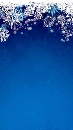 Snowflakes on blue background Holiday Iphone Wallpaper, Snowflake Wallpaper, Merry Christmas Wallpaper, Holiday Wallpaper, Winter Wallpaper, New Wallpaper, Christmas Scenes, Noel Christmas, Winter Pictures