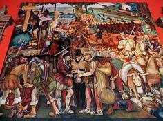 De Asia a Latinoamerica: Los murales de Rivera en el Palacio Nacional
