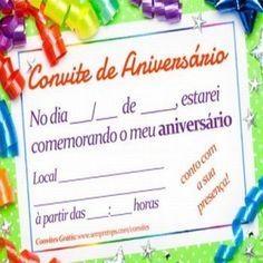 Convites de Aniversário: Infantil, Adulto, Online, Grátis