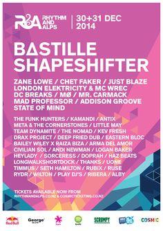 This years lineup for R&A!! #rhythmandalps #randa2014