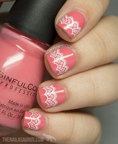 The Nailasaurus: Snippet: Lace Stamping