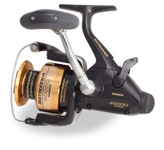 Fish with confidence with the new Shimano 4000 Spinning Reel. This Baitrunner Reel is packed with features from its legendary drive train to its auto-return action. The Shimano Reel delivers . Shimano Fishing Reels, Shimano Reels, Saltwater Reels, Saltwater Fishing, Penn Reels, Bait And Tackle, Great Days Out, Spinning Reels, Fishing Accessories