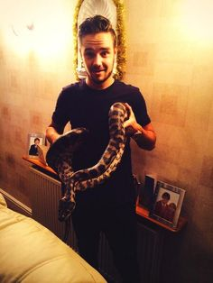 Liam with his Aunt's snake