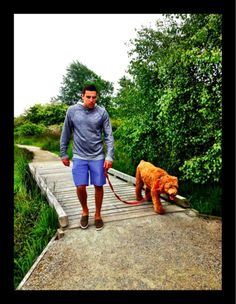 milan lucic and Buddy his dog well ain't this cute