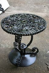 Table from Kathi's Garden Art Rust n Stuff.