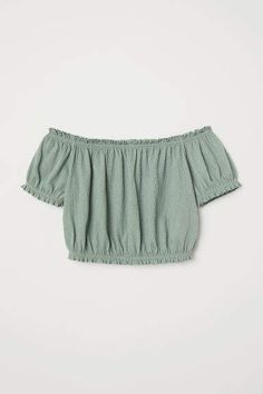Off-the-shoulder Top - Dusky green - Ladies Cute Girl Outfits, Cute Casual Outfits, Cute Summer Outfits, Girls Fashion Clothes, Teen Fashion Outfits, Girl Fashion, Ladies Fashion, Fashion Dresses, Off The Shoulder Top Outfit