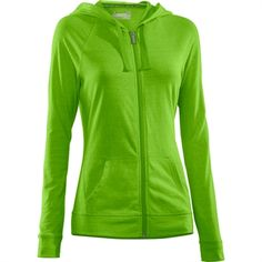 Under Armour® HeatGear® Charged Cotton® Undeniable Zip Hoodie #VonMaur #UnderArmour #Green #ZipUp #ActiveWear