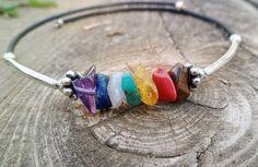 7 chakra bracelet. Tiger eye coral amazonite amber by Unics, $24.00