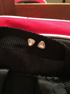 Cheer Hack- if you forget to take your earrings out before practice or  a competition then all you have to do is poke them through a strap on your cheer bag. Then put the back on and they won't fall out. YOU'RE WELCOME