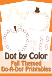 Dot by Color - Fall Printable Do-A-Dot Pictures