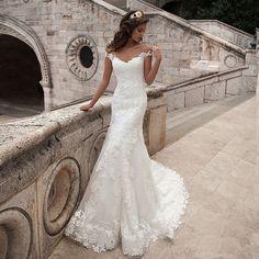 New Arrival Mermaid Wedding Dress,Sexy Lace Wedding Gown,Bridal