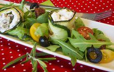 Zucchinirolle Zucchini, Mascarpone Creme, Fett, Snacks, Party, Dried Tomatoes, Fresh, Recipies, Summer Squash