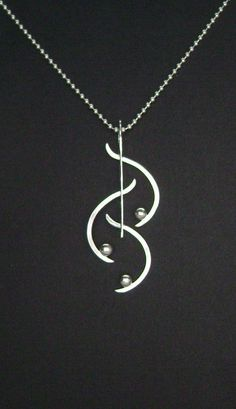 Sterling Silver Contemporary Necklace by SignetureLine on Etsy