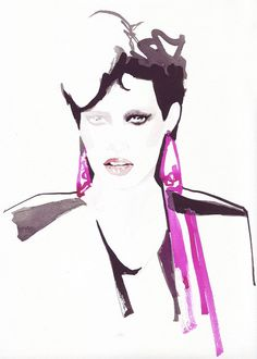 Fashion Illustration Watercolor Painting Print of by bijuterra, $28.00