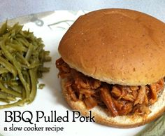 BBQ Pulled Pork - another super easy slow cooker recipe from Dragonflight Dreams. #slowcooker #dinner