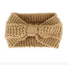 Gaweb Turban Headband Crochet Knit Bow Tie Winter Wrap