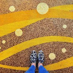 Tie a yellow ribbon round the old oak tree  #ihavethisthingwithfloors #carpetdiem #tdlheartshoes by trinnadeleon
