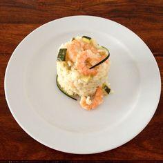 Prawn risotto with zucchini