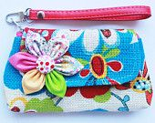 PROMOTION Buy 3 Get 1 FREE- Flower Wristlet for cell phone coin iphone blackberry #EasyPin