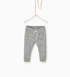 Image 1 of Ribbed leggings from Zara