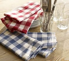 Nothing says patriotic picnic like a good 'Gingham Check Napkin'