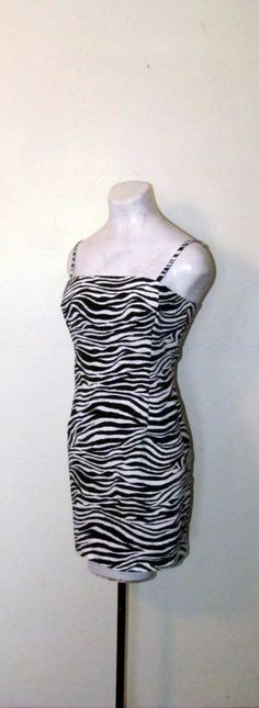Sexy Vintage LaBelle Zebra Print Fitted Sun by BeauMondeVintage, $48.00