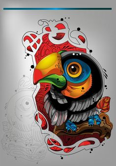 Demon Drawings, Art Drawings, Tribal Art Tattoos, Colored Tattoo Design, Monkey Tattoos, Doodle Art Designs, Cartoon Tattoos, Desenho Tattoo, Illustrations