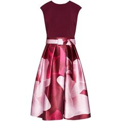 Ted Baker Lyla Porcelain Rose Dress ($300) ❤ liked on Polyvore featuring dresses, gowns, floral midi dress, cap sleeve gown, floor length evening dresses, glamorous evening dresses and evening maxi dresses