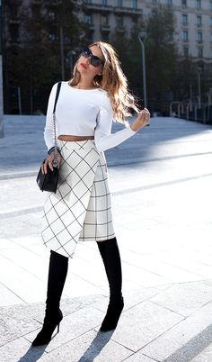 80 Cute Casual Winter Fashion Outfits For Teen Girl Look Fashion, Trendy Fashion, Winter Fashion, Fashion Outfits, Womens Fashion, Fashion Trends, Fashion Clothes, Trendy Style, Skirt Outfits