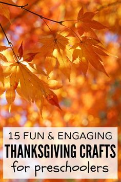 If you're looking for boredom busters to help you and your kids make it through rainy, dreary days when you don't feel like leaving the house, this collection of fun & engaging Thanksgiving crafts for preschoolers is just what you need!