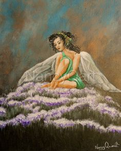 Original painting fairy art Fantasy artwork Original by NancyQart