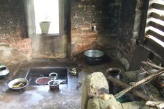 traditional old kitchen in village house