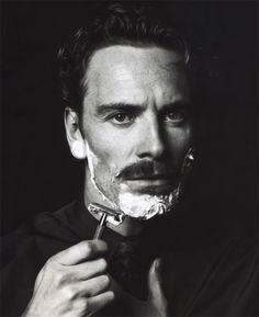 Michael Fassbender  - B & W #favourite #handsome #men #beard
