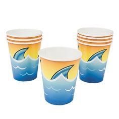Jawsome Shark Cups - OrientalTrading.com