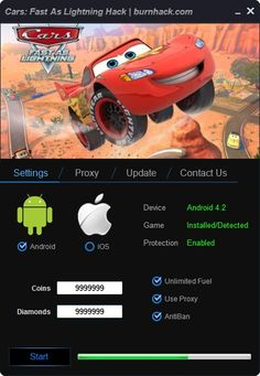 Cars: Fast As Lightning Hack Unlimited Coins (Android/iOS)  http://burnhack.com/cars-fast-lightning-hack-unlimited-coins-androidios/