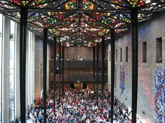 The Great Hall of the National Gallery of Victoria, featuring a stained glass ceiling by artist Leonard French. Melbourne Museum, Visit Melbourne, Melbourne Art, Melbourne Australia, Vic Australia, Brunswick Street, Central Business District, National Art, Victorian Design